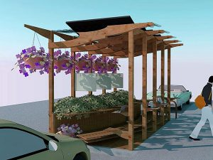 Newport's First Parklet Ribbon Cutting Today