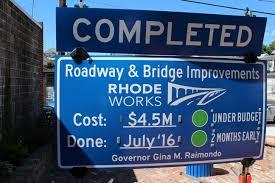 Big Blue RIDOT Signs